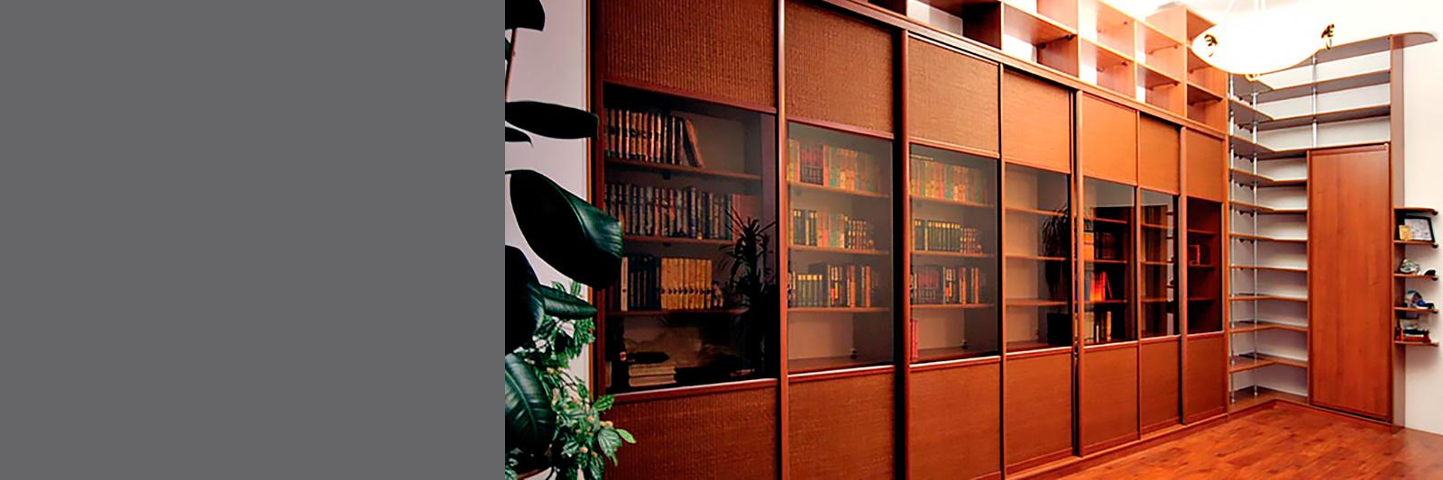 Книжный шкаф-купе.