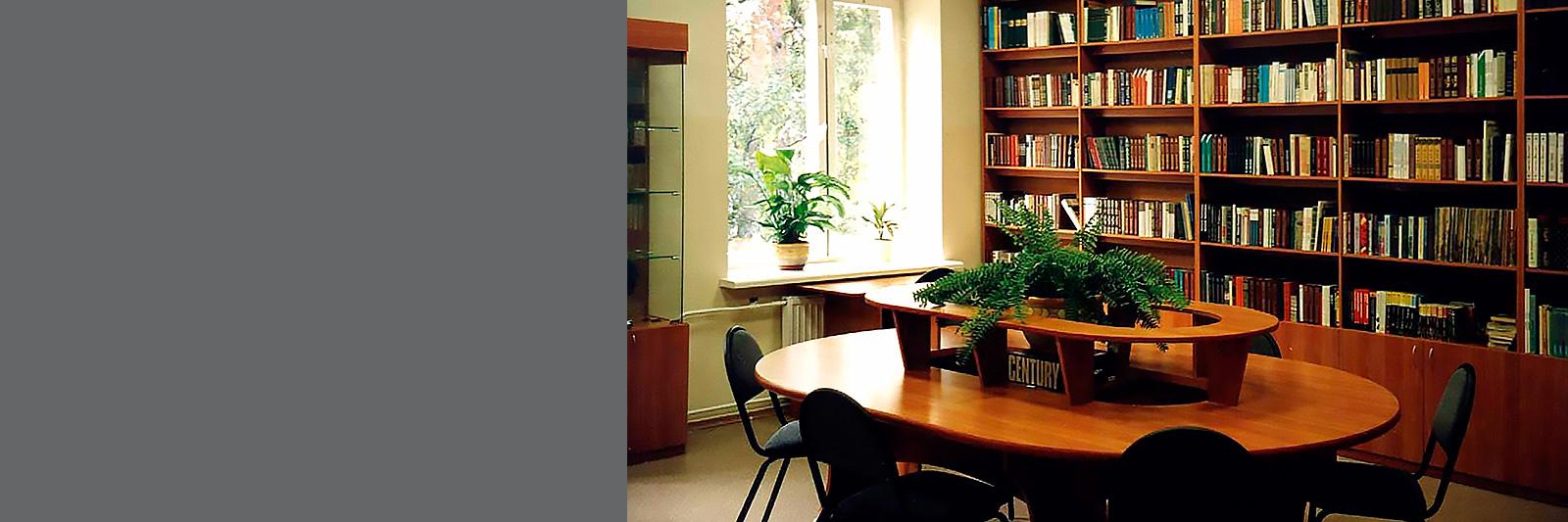 Книжный стеллаж на заказ в библиотеку школы