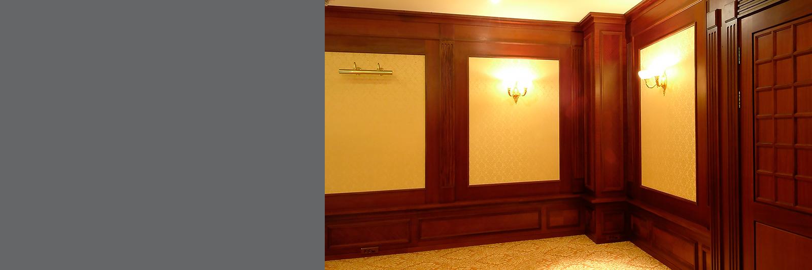 Комбинированные стеновые панели на заказ для приемной