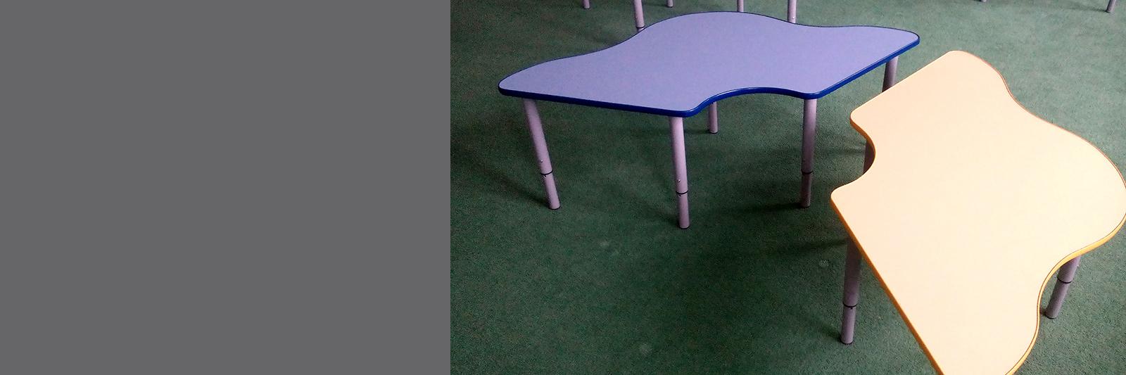 Детские столы-парты на заказ с регулируемыми опрами