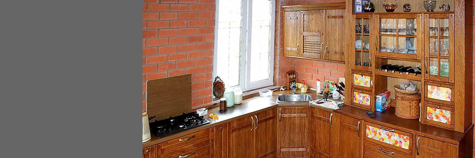 Мебель для кухни на заказ из натурального дерева