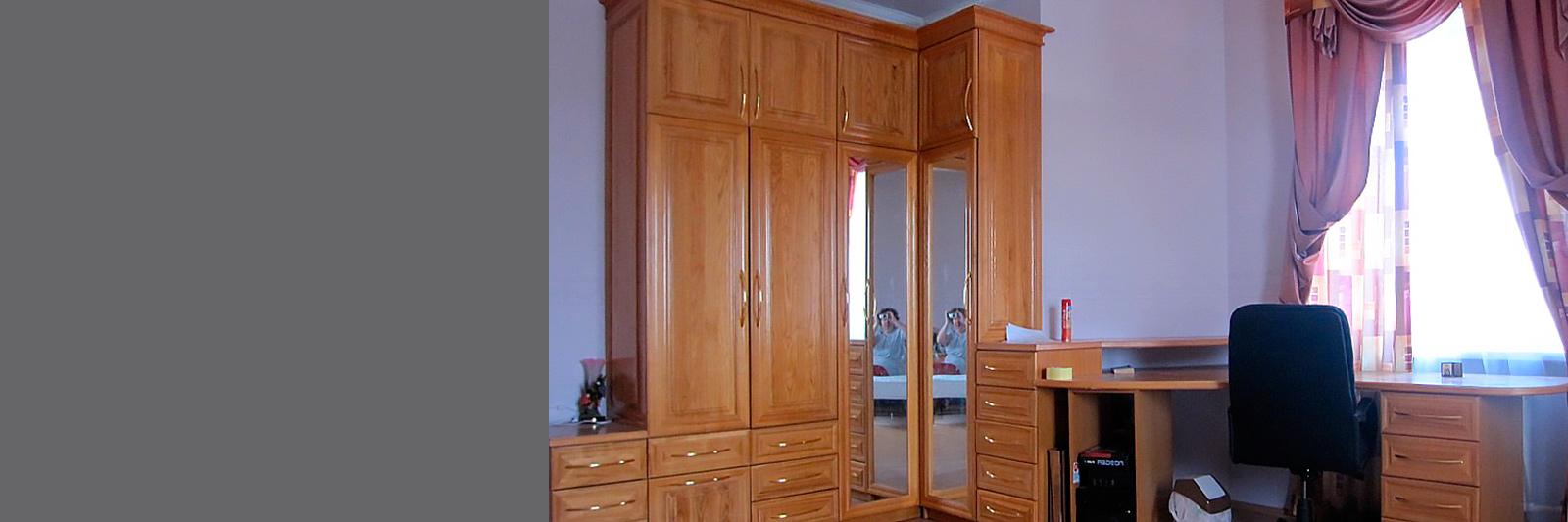 Мебель в домашний кабинет на заказ по индивидуальным размерам