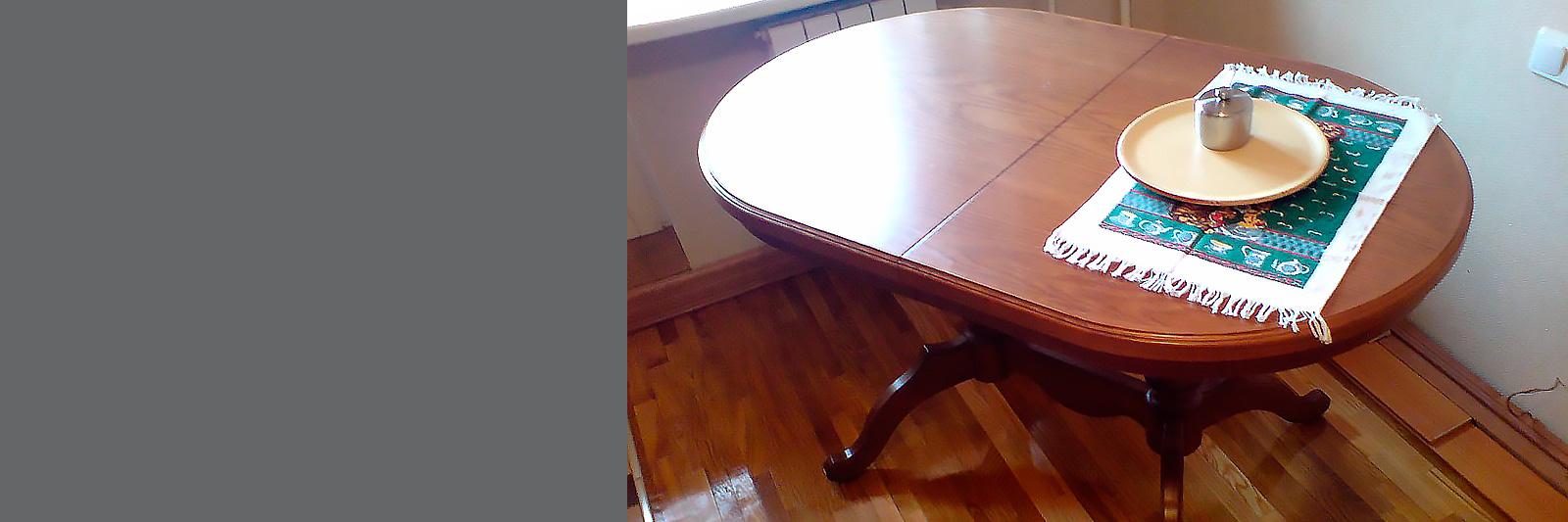 Овальный раскладной стол на заказ из массива