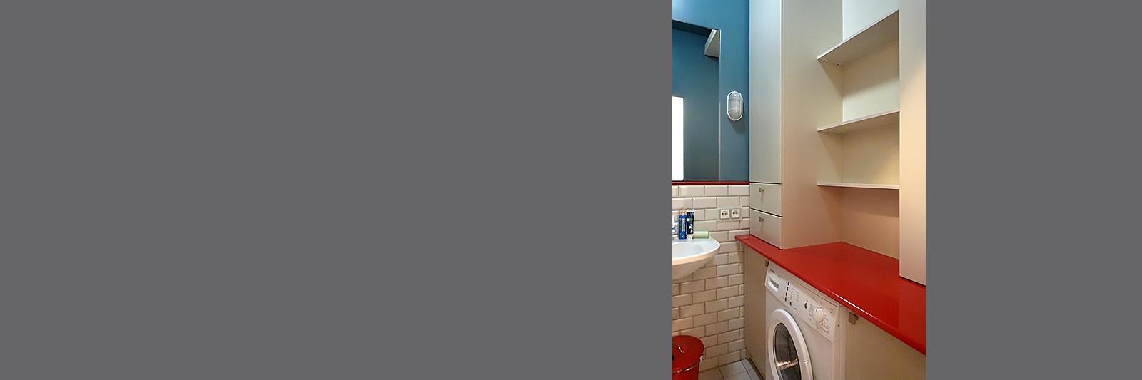 Стеллаж, тумба и шкаф для ванной на заказ