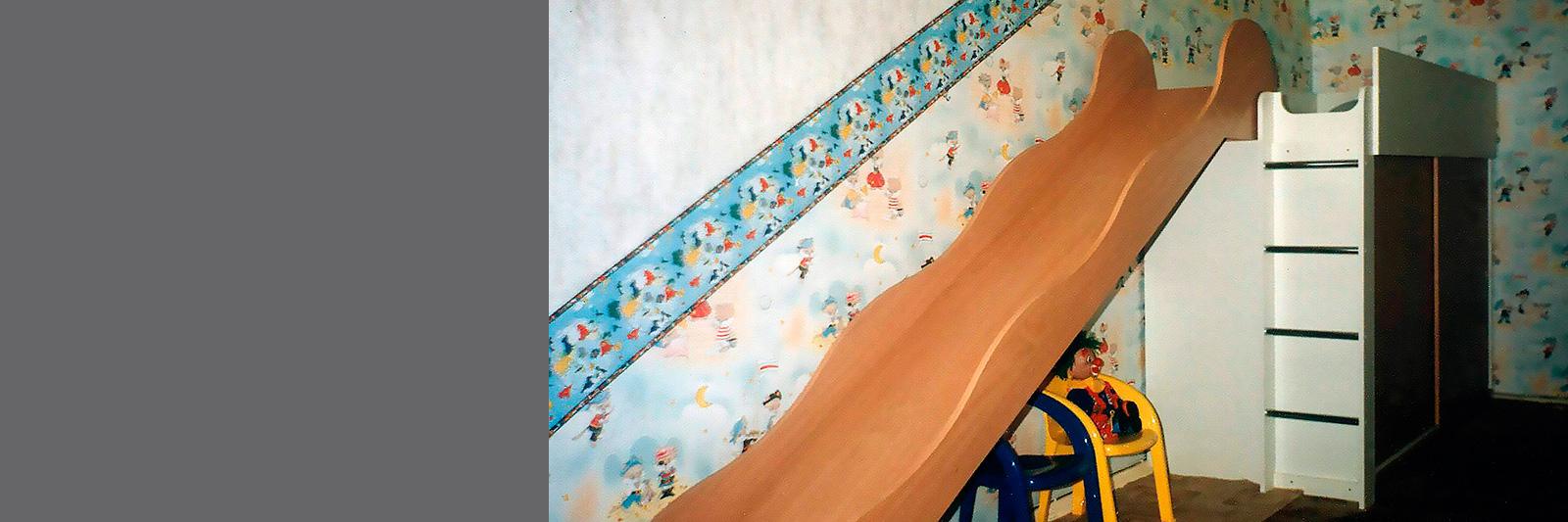 Детская двухъярусная кровать на заказ с горкой