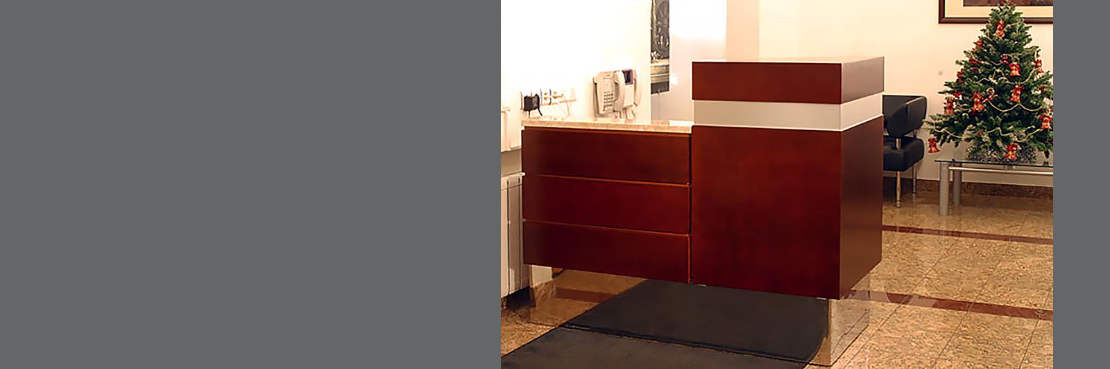 2-уровневая стойка для поста охраны на заказ