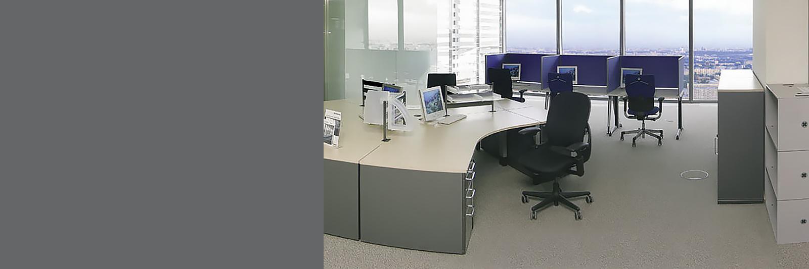 Мебель для персонала, угловые столы на заказ