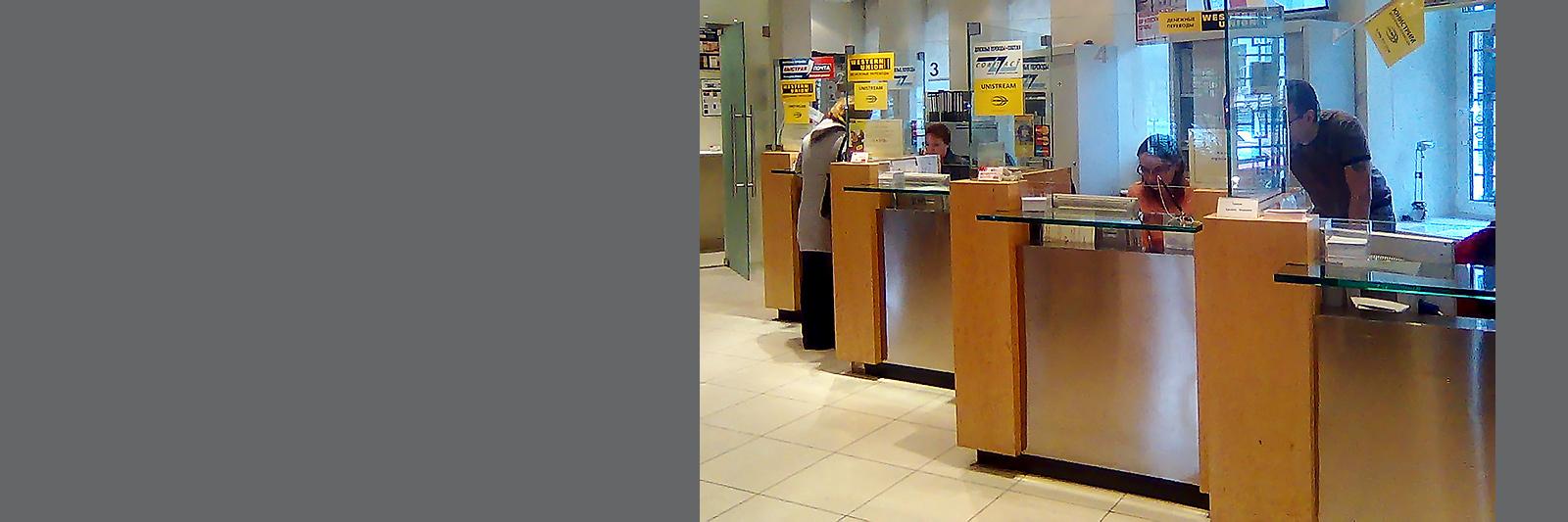 Банковские стойки со стеклом на заказ