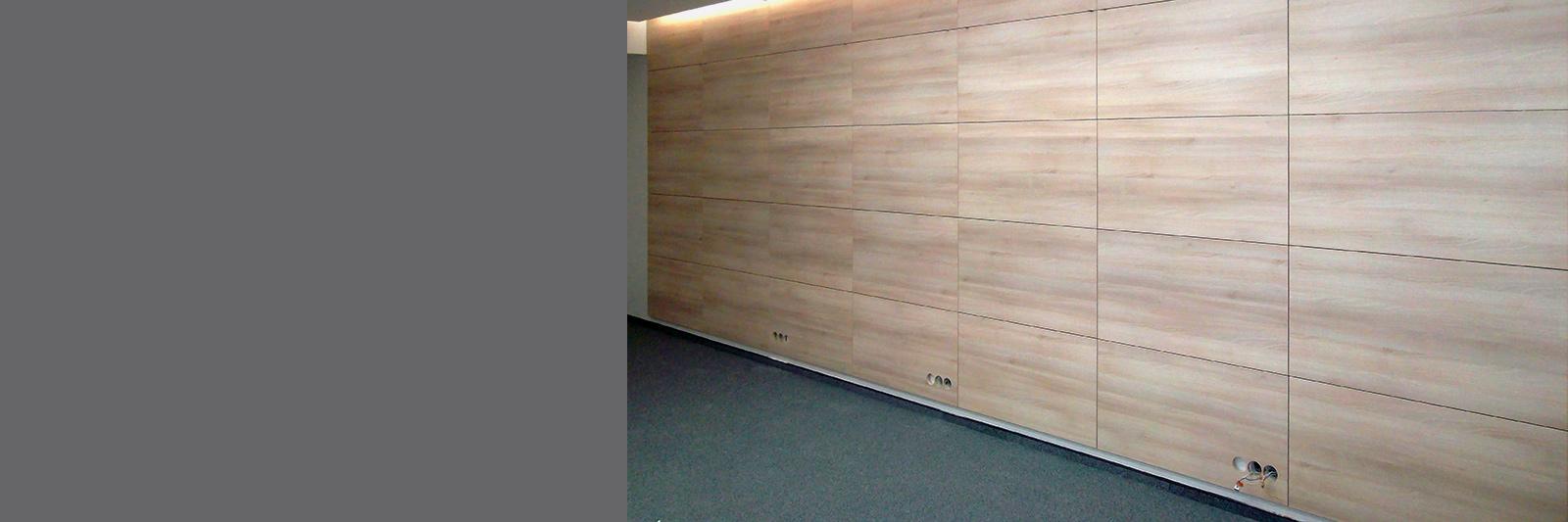 Стеновые панели для офиса из шпона по индивидуальному заказу