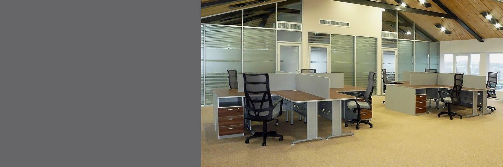 Офисные столы на металлокаркасе на заказ в open-space