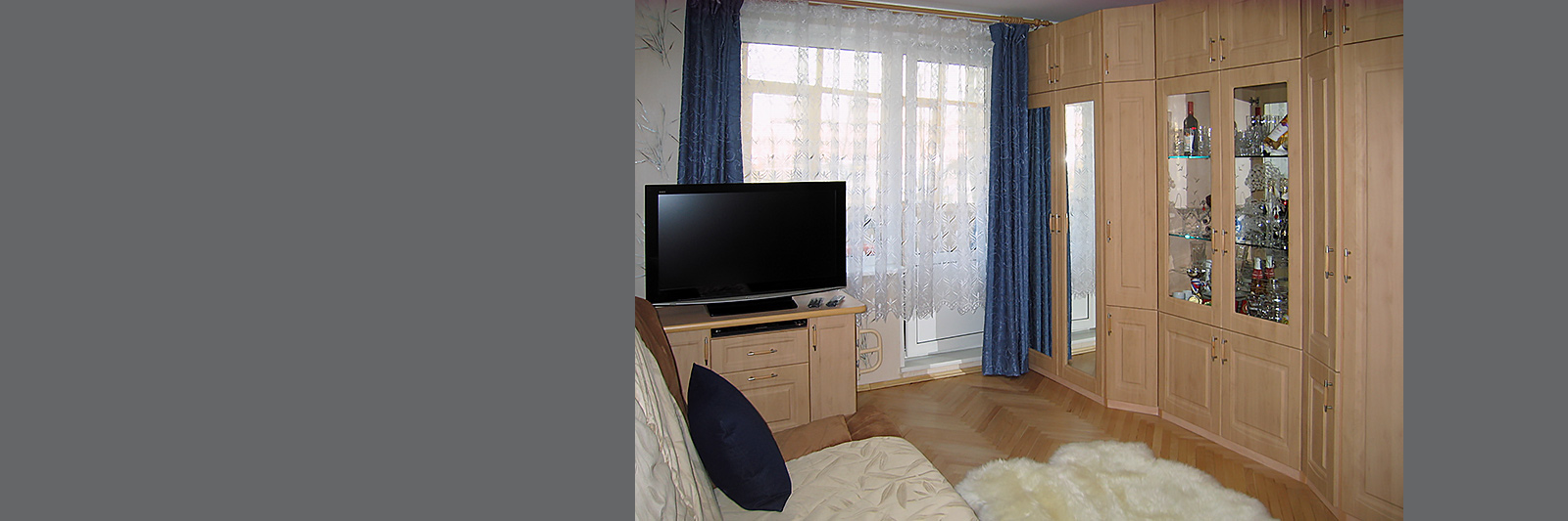 Модульная мебель для гостиной на заказ с фасадами из МДФ