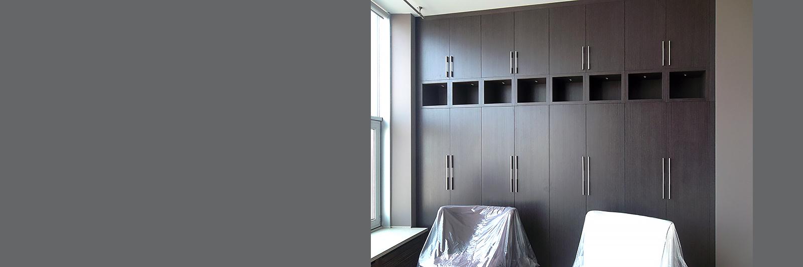 Распашные шкафы на заказ по индивидуальным размерам из ламинированной ДСП