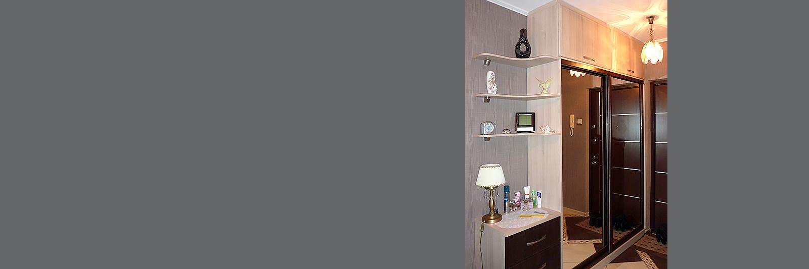 Зеркальный шкаф купе для одежды по индивидуальному проекту