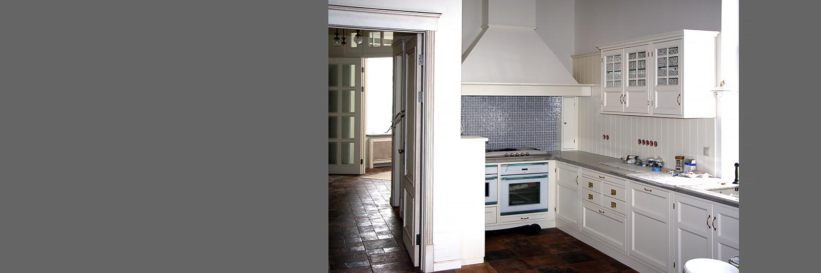 Классическая кухня на заказ из эмалированной МДФ