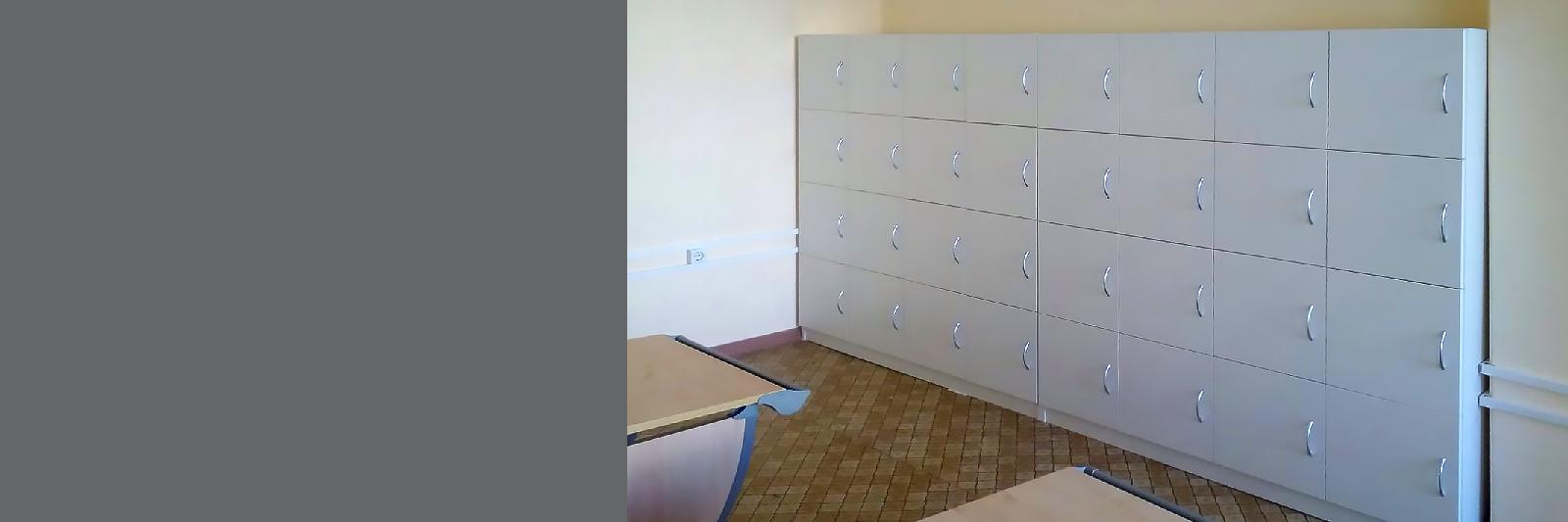 Шкафы с ячейками для школы на заказ