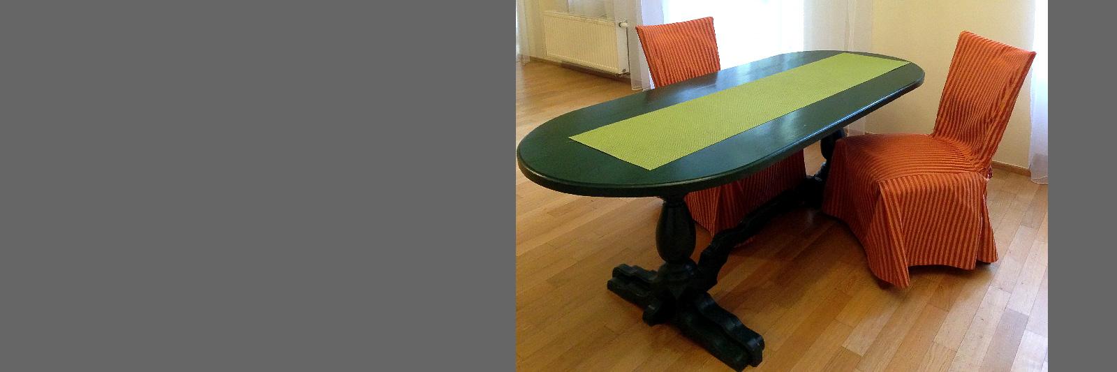 Обеденный стол на заказ в эмали